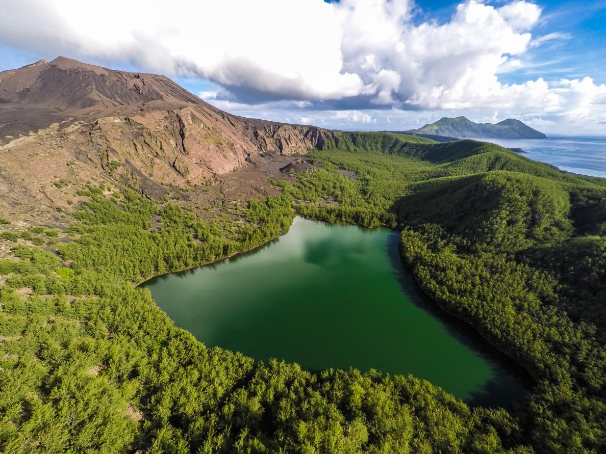 Pagan Volcano Lake Military Marianas Dan Lin
