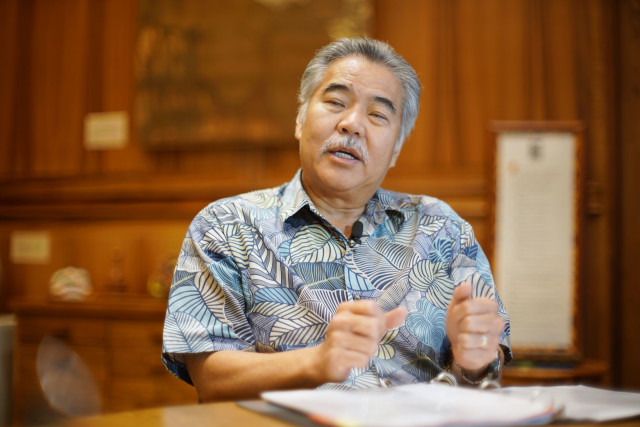 Governor David Ige Chad interview at Gov's office. Capitol. 15 dec 2016