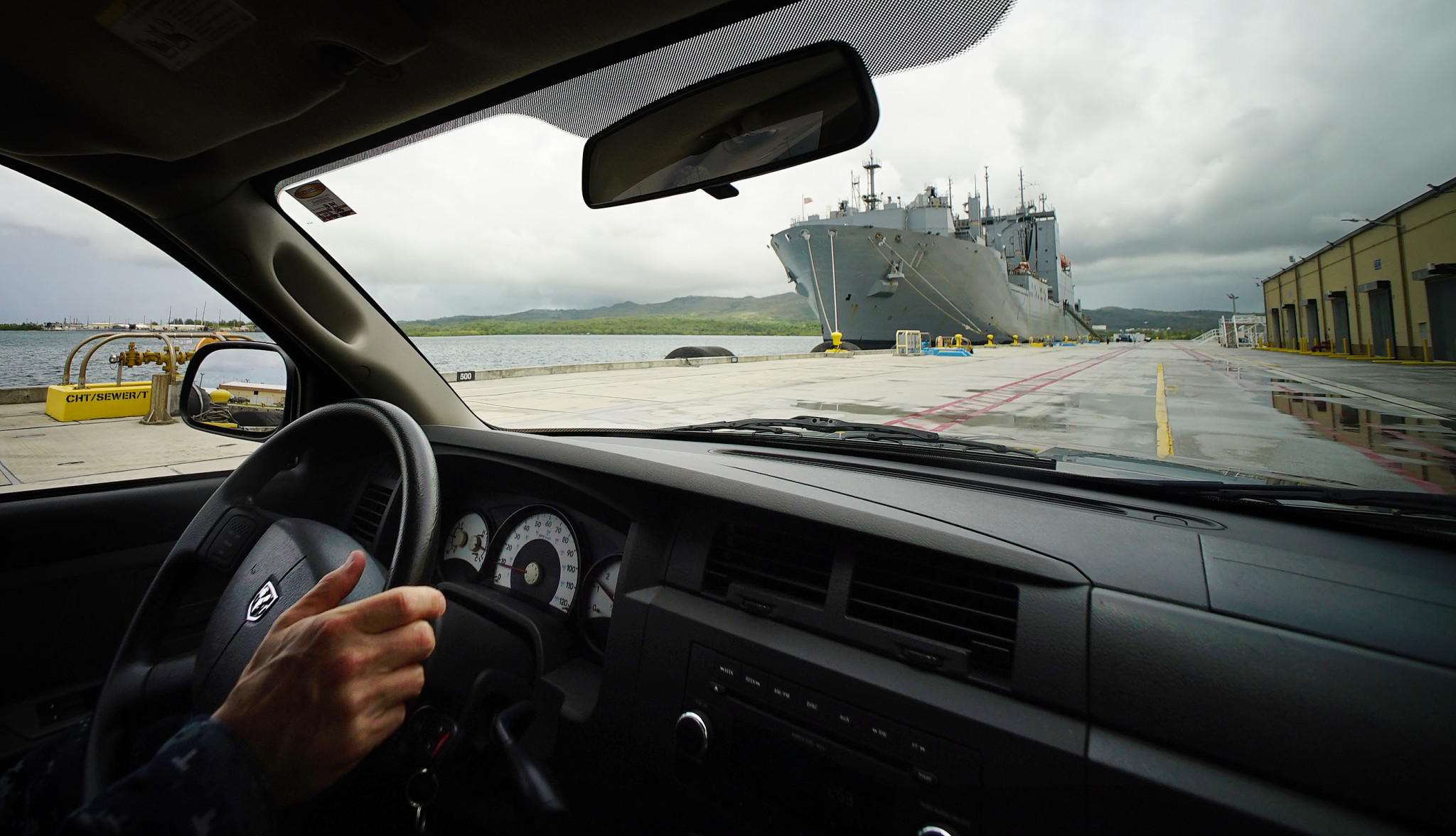 Guam US Navy Base Marianas on tour with base commander. 22 aug 2016
