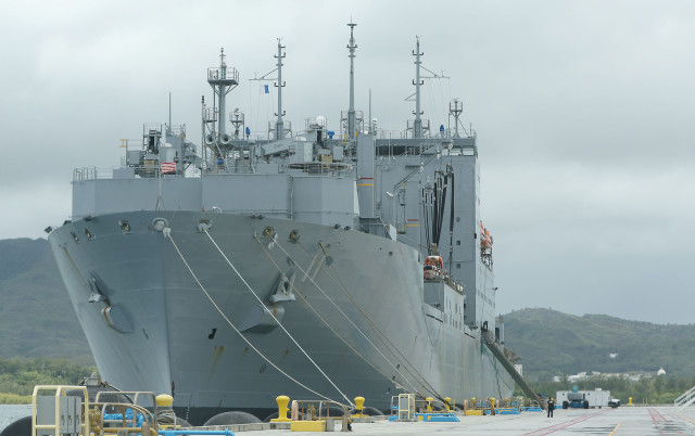 Marianas Navy base guam ship. 23 aug 2016