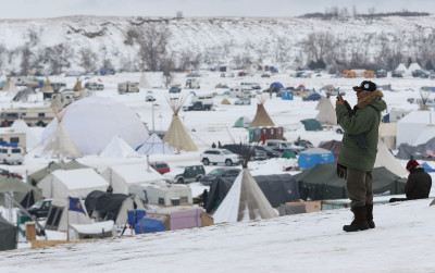Aloha, Standing Rock: Islanders Brave Cold, Snow In Solidarity