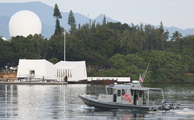 Pearl Harbor 75th Commemoration Arizona memorial. 7 dec 2016