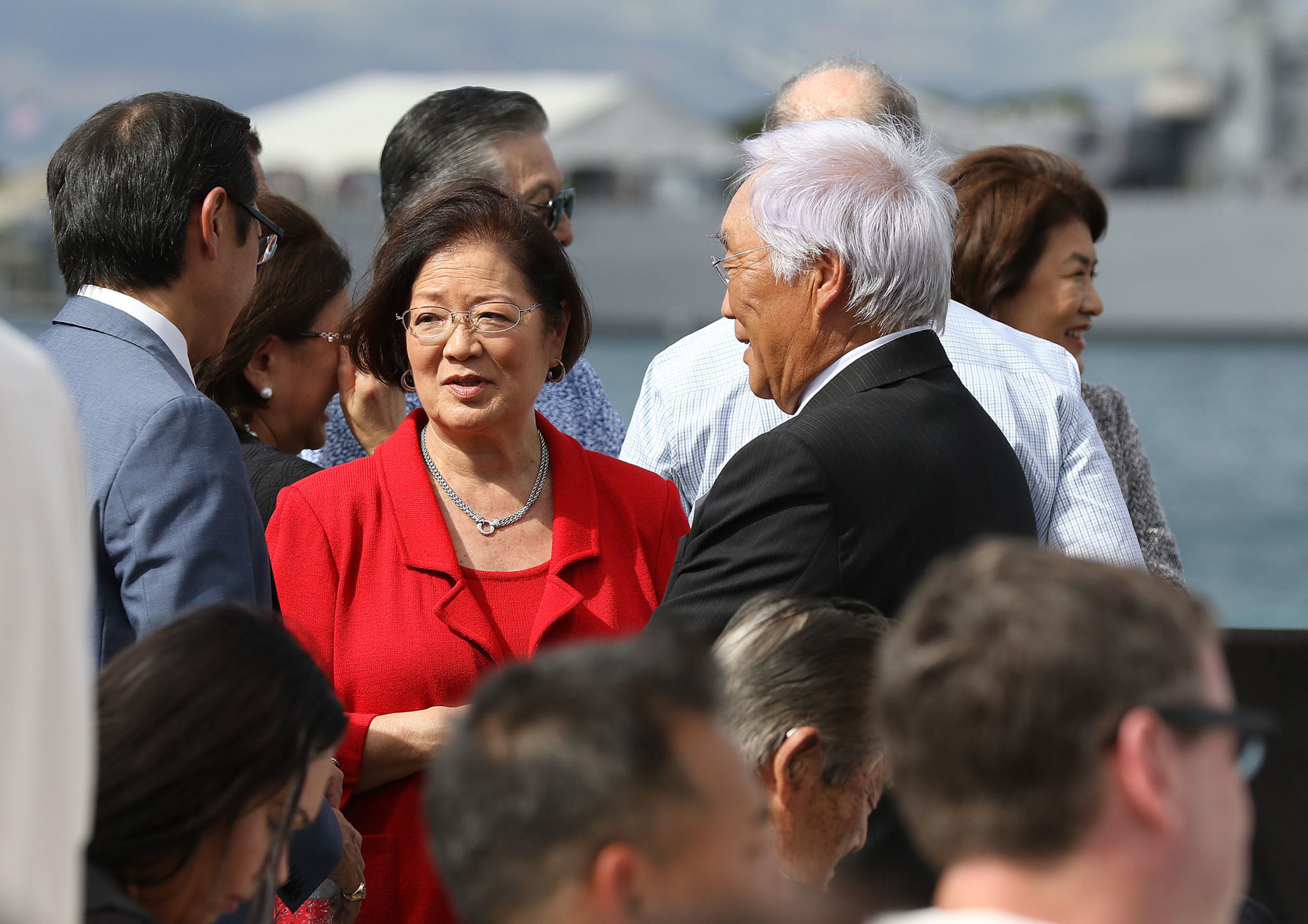 Senator Mazie Hirono Pearl Harbor. 27 dec 2016
