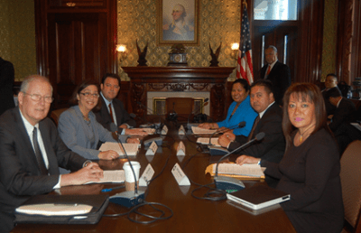 Officials from the Commonwealth of the Northern Mariana Islands talk about labor, immigration and the military buildup in Washington D.C. with top defense officials and the Department of Interior.