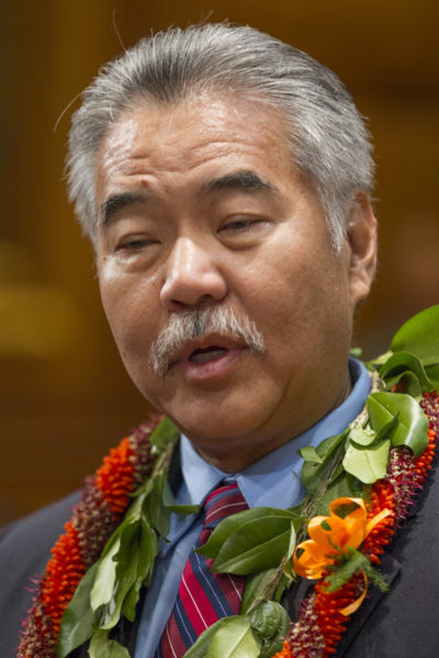 Hawaii Governor David Ige speaks at a press conference in his office after the opening of the 2017 Legislation session at the Hawaii State Capitol, Wednesday, Jan. 18, 2017, in Honolulu. Photo by Eugene Tanner/Civil Beat