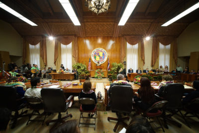 Honolulu City Council wide inauguration. 3 jan 2017