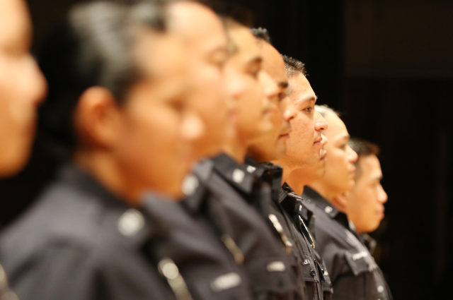 HPD 184th Recruit Class graduation faces. 22 feb 2017