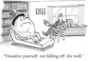 Humpty Dumpty Is Sitting On Trump's Wall