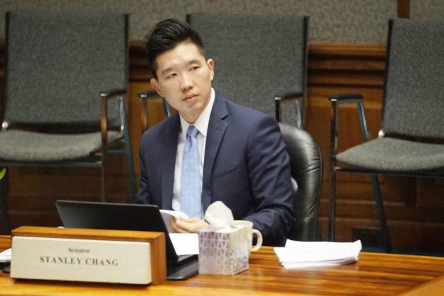 Senator Stanley Chang . 7 march 2017