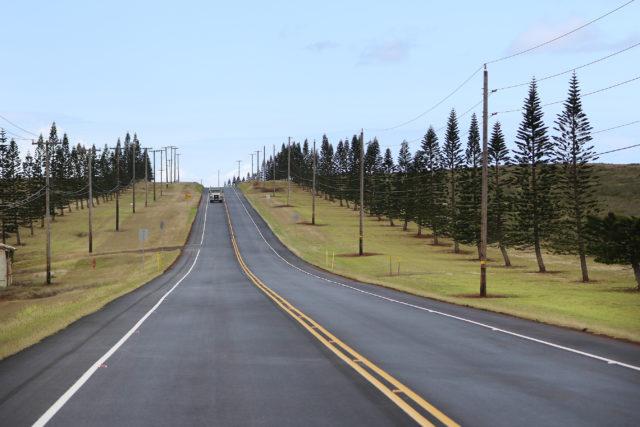 Lanai road from airport. 13 april 2017