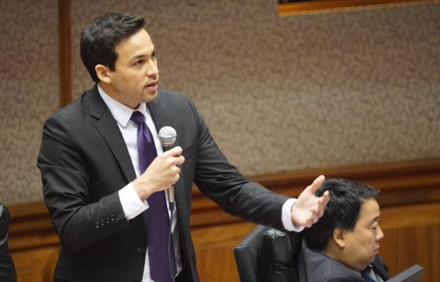 Rep Chris Lee speaks during abortion discussion floor House. 11 april 2017