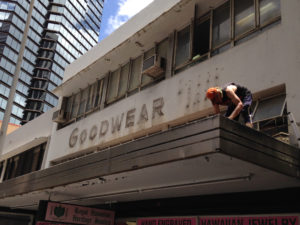 So Long To The Old Goodwear Sign On Bishop Street
