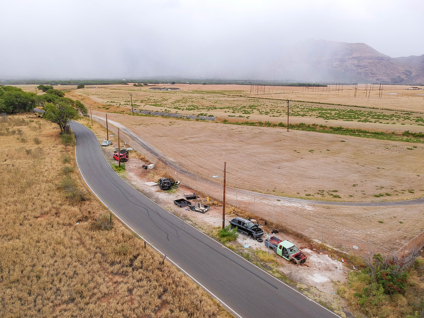 Abandoned Car Story Waianae Aerial Photography Drone Photo