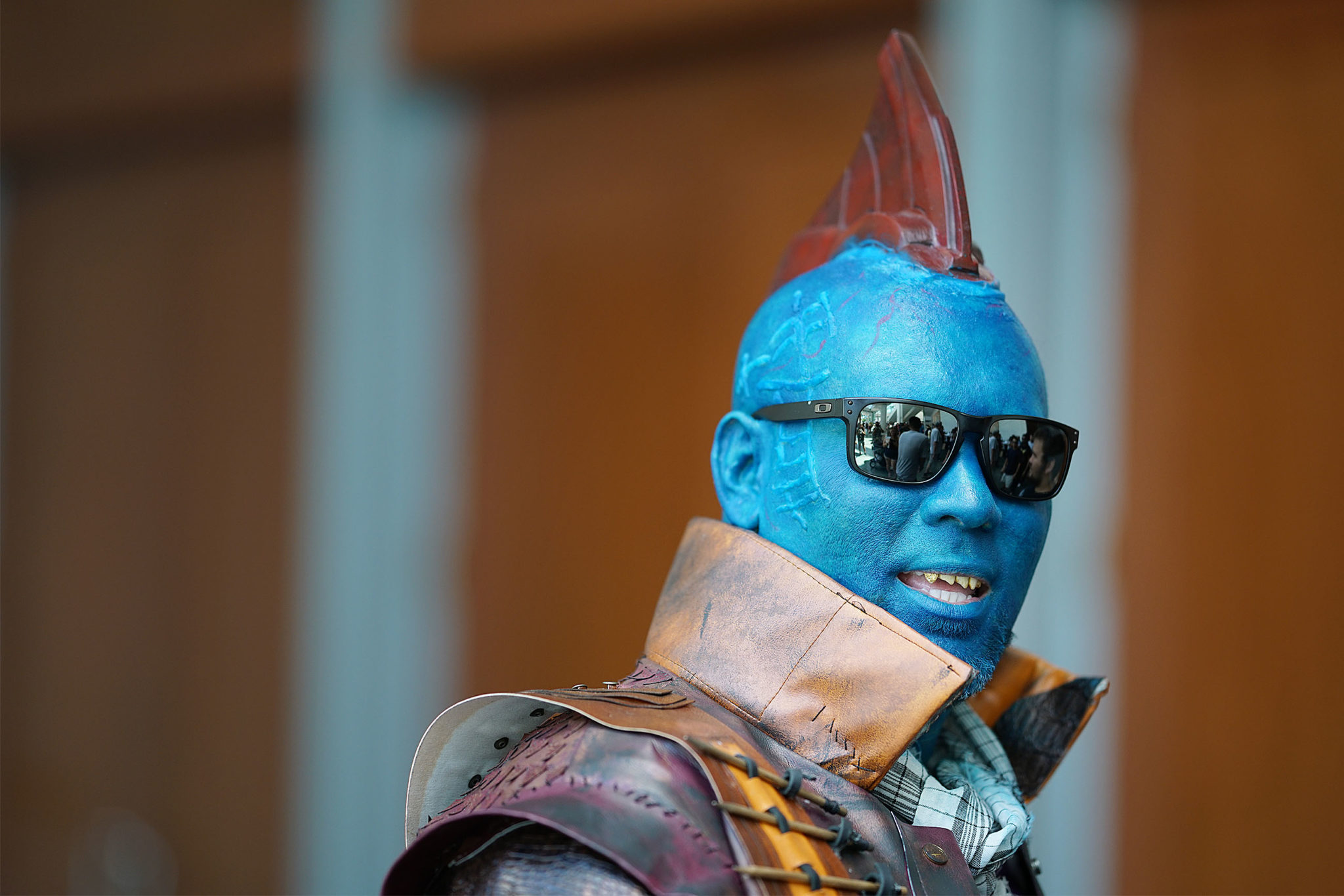 """<p>Kamakani De Dely as the blue hero Yondu from the """"Guardians of the Galaxy"""" movie series was a big hit at the convention.</p>"""