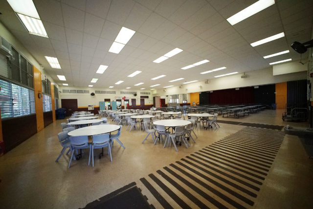Mililani High School cafeteria.