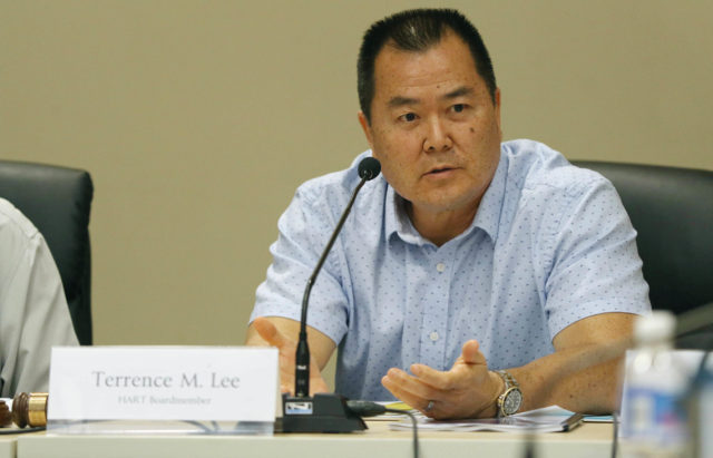 HART Vice Chair Terrence Lee during board meeting held at Alii Place.