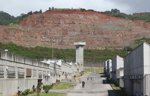 Remnants of the quarry in Halawa frame what is called 'Main Street' as inmates traverse from modules to modules. file photograph from 2015 December.