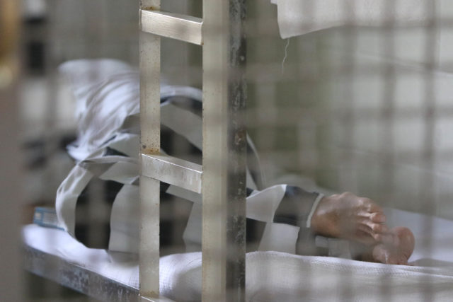 Halawa Prison inmate sleeps in their cell in their module. 2015 file photograph.