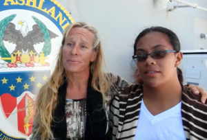 Two Hawaii Women Rescued At Sea Arrive In Japan Aboard Navy Ship