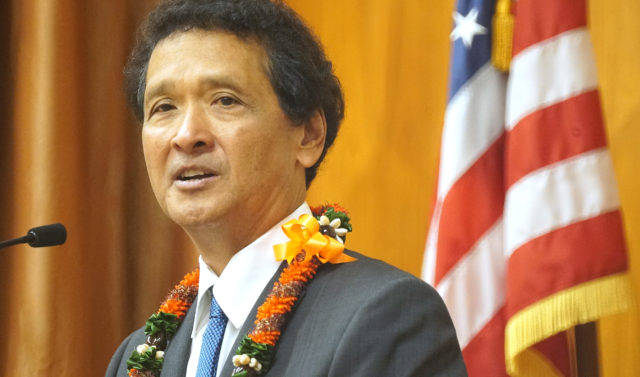 Honolulu City Council Chair Ron Menor during full council meeting.