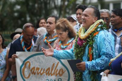 Mayor Bernard Carvalho Lieutenant Governor announcement at the Capitol.
