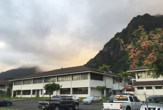The Hawaii State Hospital is shown in Kaneohe, Hawaii, Tuesday, Nov. 14, 2017. The search for a dangerous man who escaped from the Hawaii psychiatric hospital moved to California after authorities said Tuesday he boarded a flight to the state from Maui two days earlier. Randall Saito, who was acquitted of a 1979 murder by reason of insanity, left the state hospital outside Honolulu on Sunday, took a taxi to a chartered plane that took him to the island of Maui and then boarded another plane to San Jose, California, Honolulu police said. (AP Photo/Caleb Jones)
