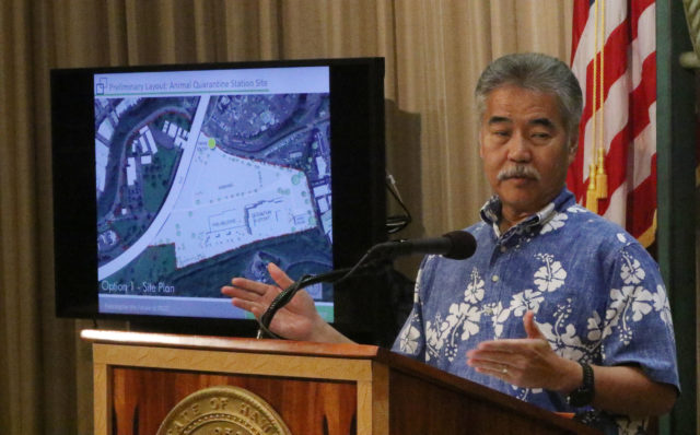 Governor David Ige speaks to media about the moving of OCCC to Halawa.