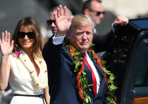 Trump Touches Down In Hawaii Before Tour Of Asia