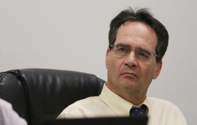 Sen Karl Rhoads part of HTA questioning of their $82,000,000 budget during a recent joint senate hearing.