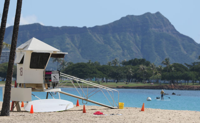Ala Moana Beach park Lifeguard 1B.