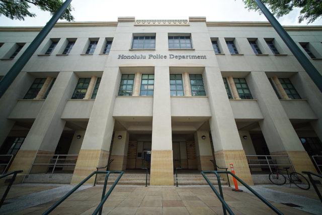 Honolulu Police Dept HPD building.