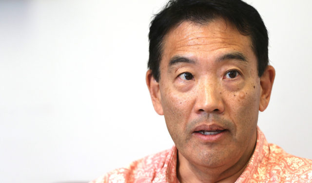 State of Hawaii Auditor Les Kondo press conference.
