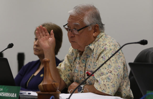 Sen Chair Clarence Nishihara, Chair of the Public Safety, Intergovernmental, and Military Affairs committee.