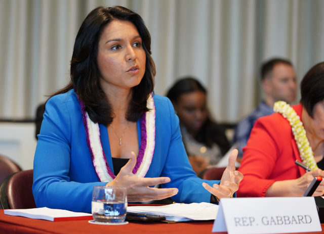EW Center Hearing Rep Tulsi Gabbard.