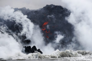 Lava From Kilauea Enters Ocean From Three Flows