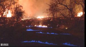 'Eerie' Blue Flames Burn In Cracks Caused By Kilauea Lava Flows