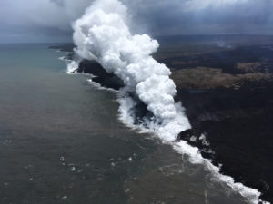 Lava Crosses Highway 132, Destroys 400 Utility Poles