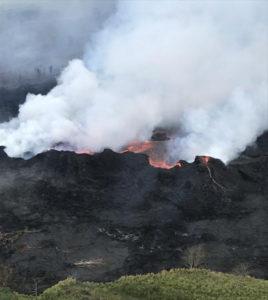 Lava Flow Enters Geothermal Plant Property