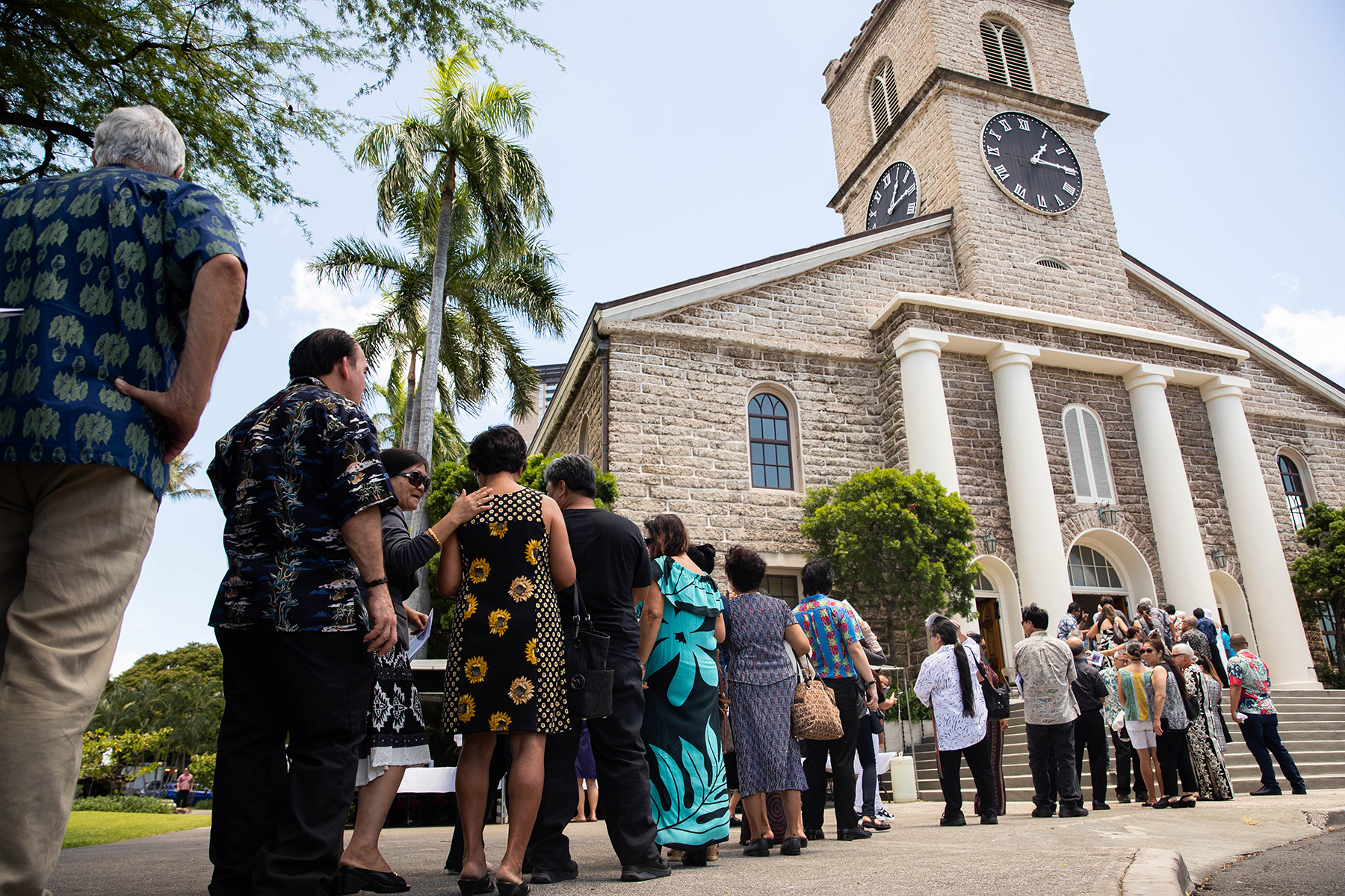 "<p>Saturday's ""Celebration of Life"" service at Kawaihao Church was open to the public, as were the services on Friday at the Capitol<span class="