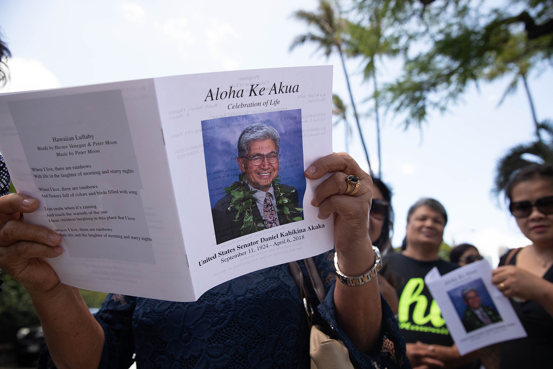 <p><strong>AKAKA'S PASSING:</strong> Nationwide tributes to former Hawaii Sen. Dan Akaka, 93, after his death in April culminated with memorial services in May. The nation's only senator of Native Hawaiian descent served from 1990 to 2013. / Anthony Quintano</p>