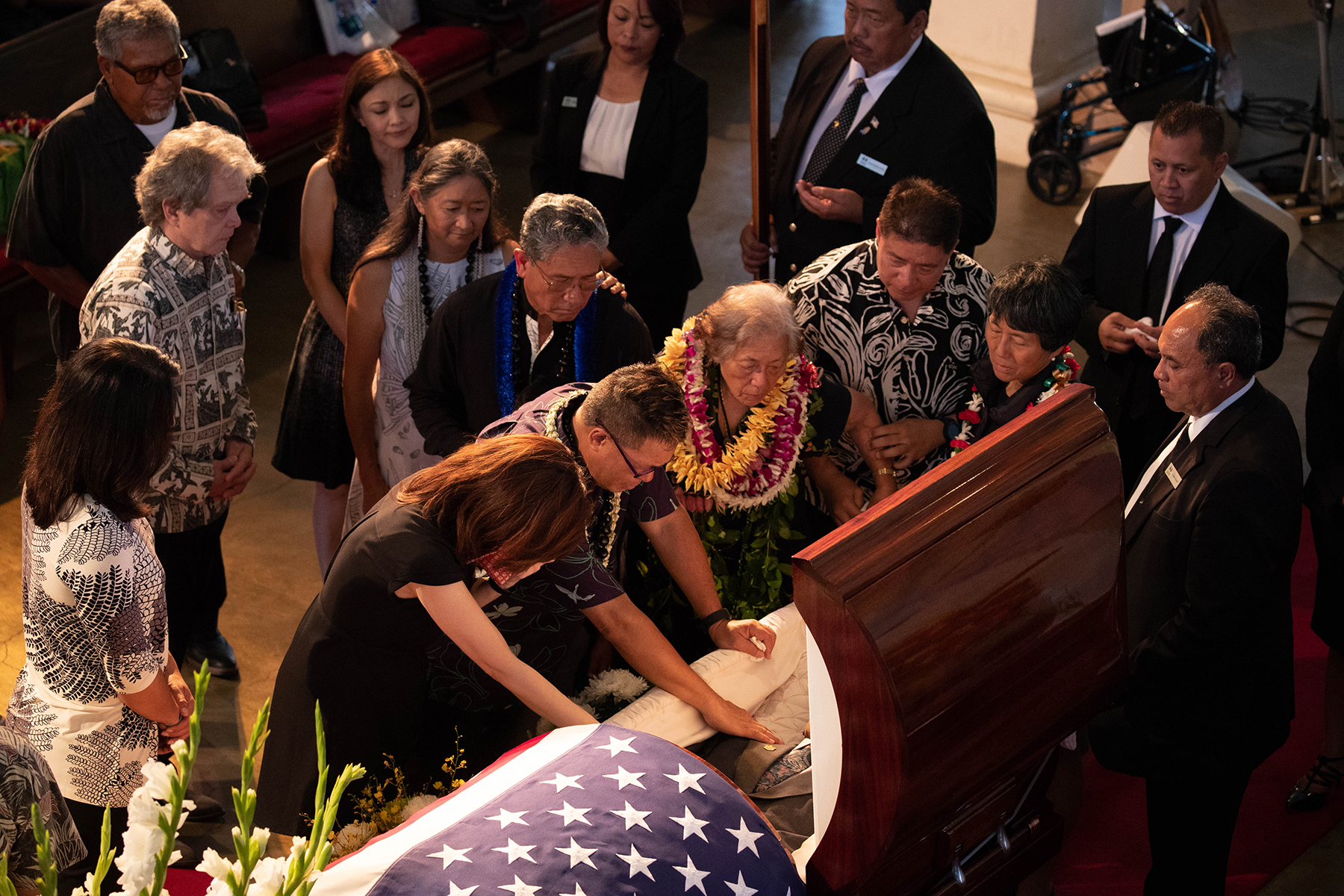 <p>The Akaka family bids an intimate final aloha to their beloved patriarch. <span class=