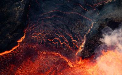 VIDEO: Overflight Video Of Kilauea Lava Fissure 8 In Leilani Estates