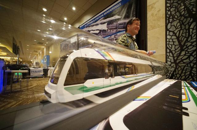 HART Rail display at the Verge Conference Hilton Hawaiian Village.