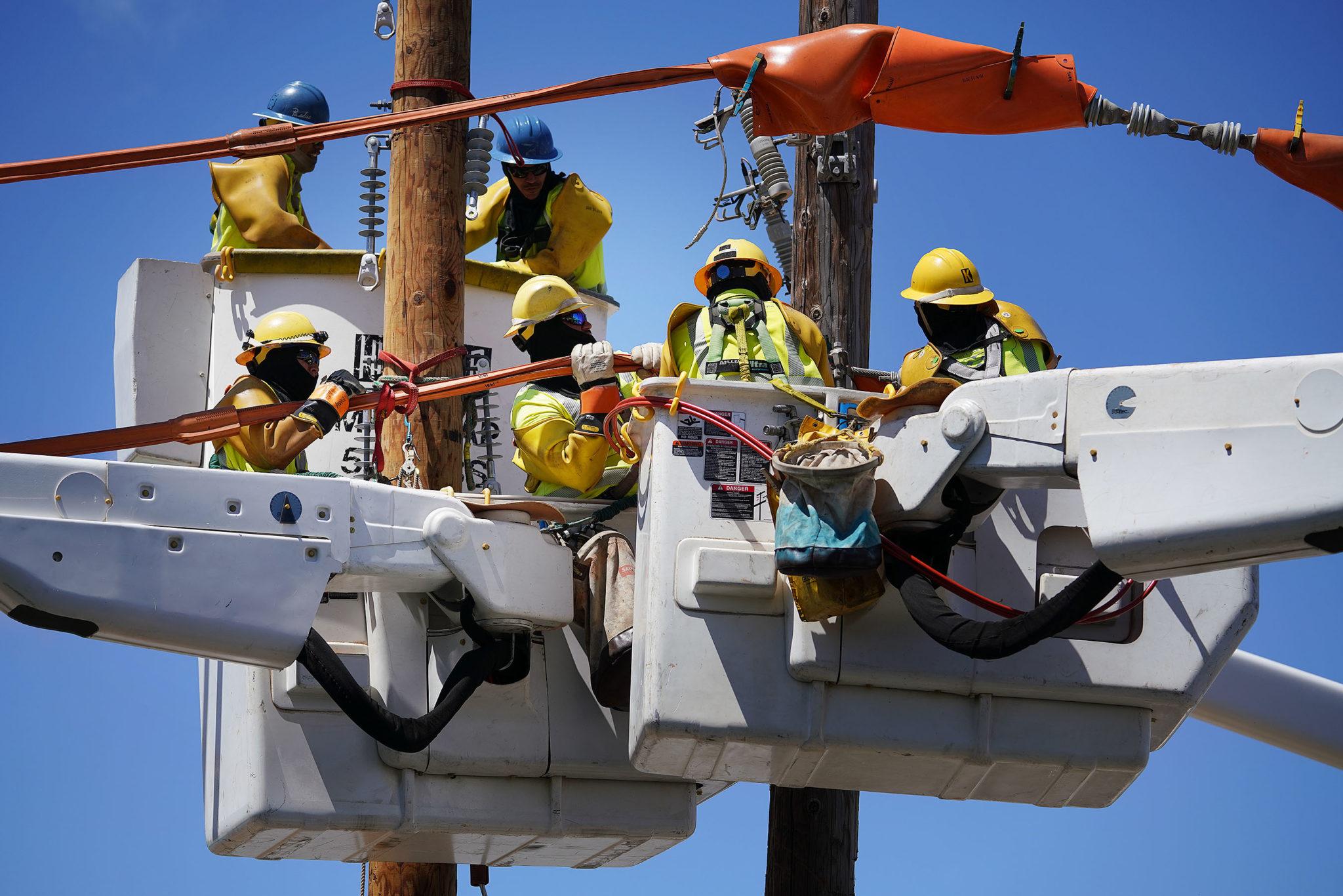 HECO HEI Hawaiian Electric closed road Electical Utility2…