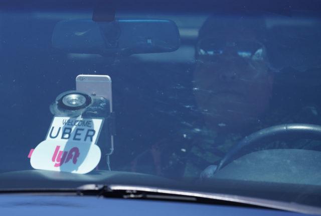 Uber Lyft driver along Lagoon Drive Airport Ridesharing.