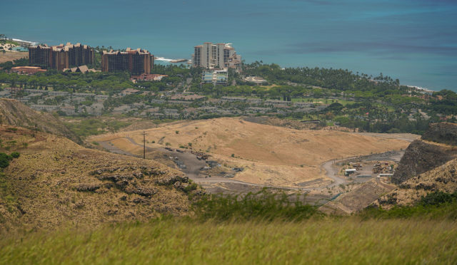 Waimanalo Gulch Waste Management Landfill located mauka of Disney Aulani and Koolina Ihilani. Waianae.