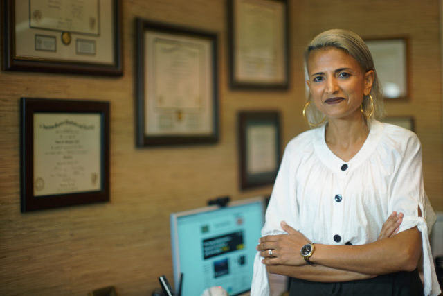 Dr Sonia Patel MD portrait at her office