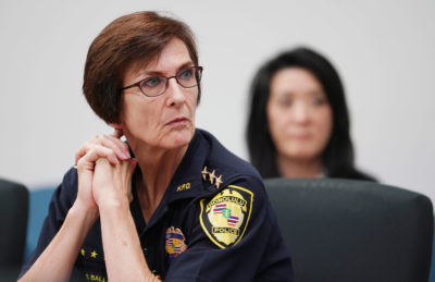 HPD Chief Susan Ballard during HPD Police Commission meeting.