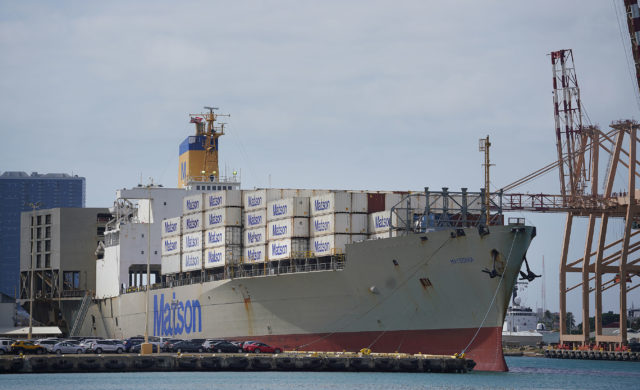 Honolulu Harbor Matson Shipping Matsonia. preparedness.