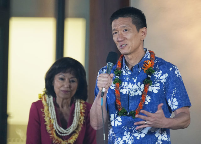 LG CD1 Candidate Doug Chin Debate Kamehameha Schools2.